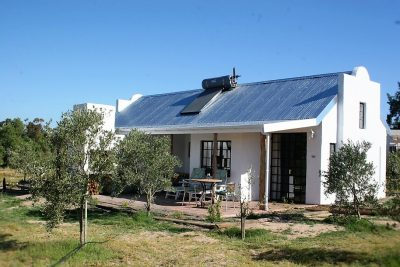 Front View of Boerfontein Olive Cottage