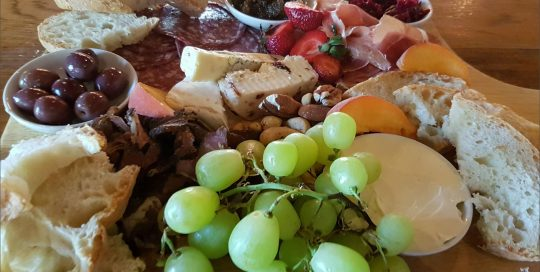 Red Green Grapes With Olives Cheese Meet Platter